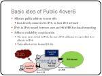 basic idea of public 4over6
