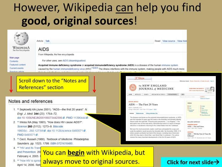 However, Wikipedia