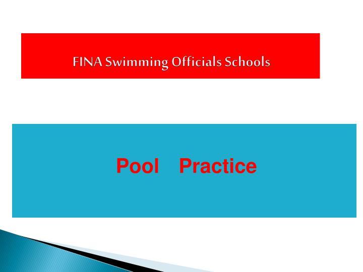 FINA Swimming Officials Schools