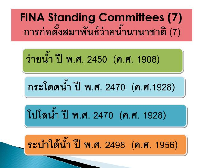 FINA Standing Committees (7)