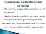irregularidades no registro de atos de pessoal1