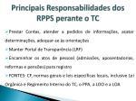 principais responsabilidades dos rpps perante o tc