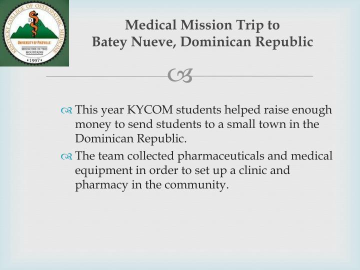 Medical Mission Trip to