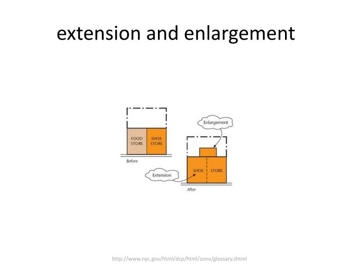 extension and enlargement