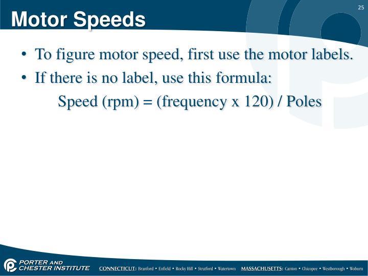 Motor Speeds