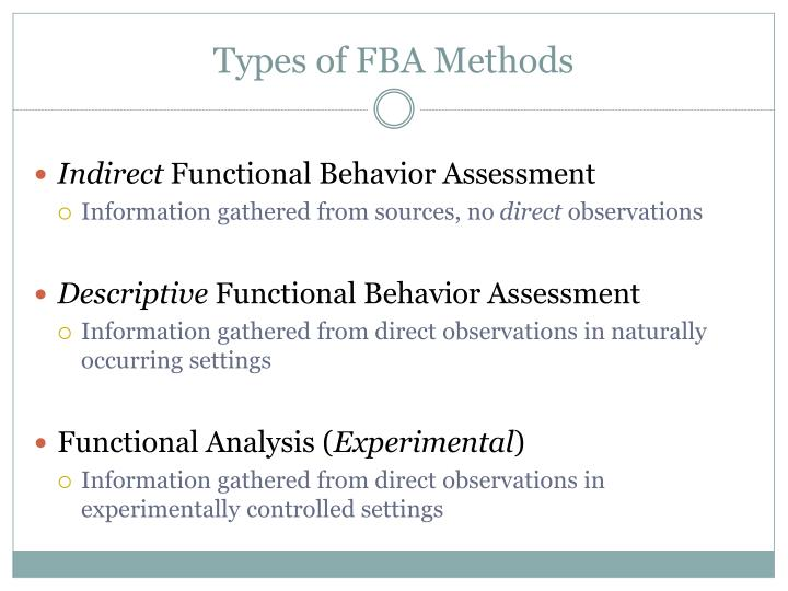 Types of FBA Methods