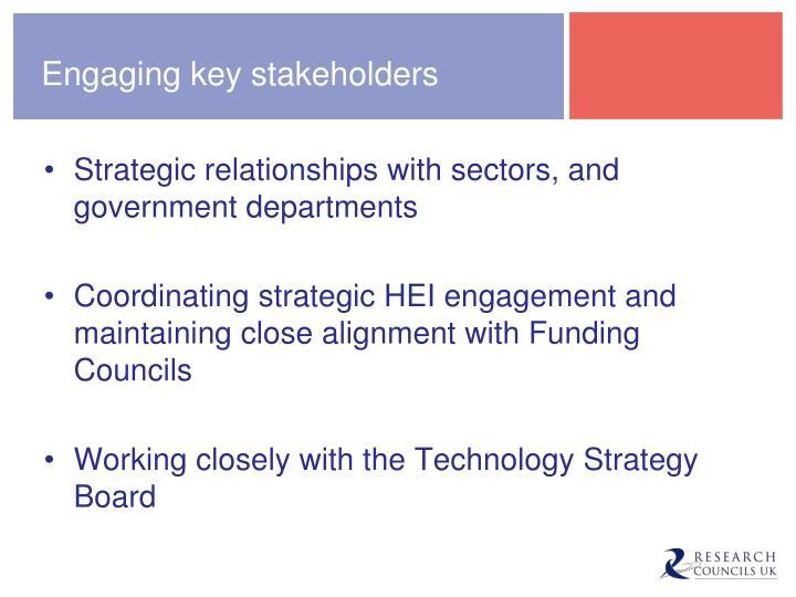 Engaging key stakeholders