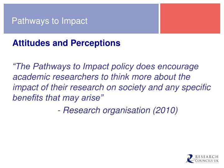 Pathways to Impact