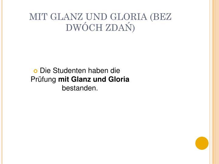 Mit glanz und gloria bez dw ch zda