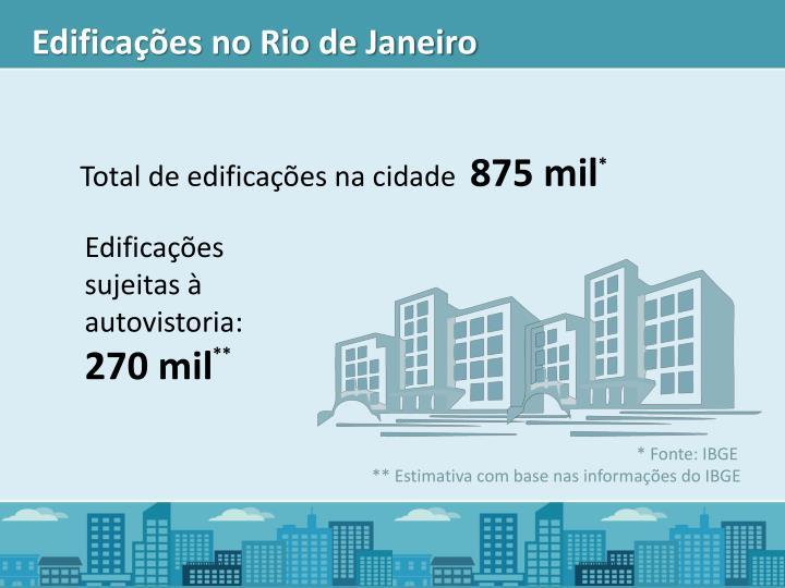 Edificações no Rio de Janeiro