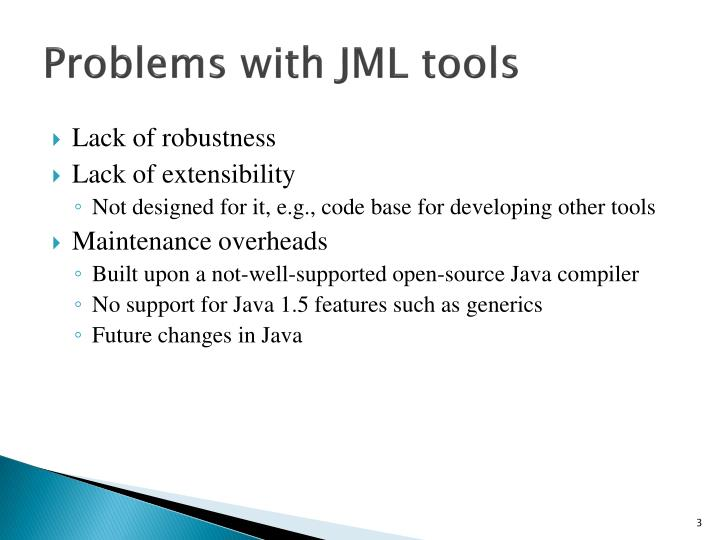 Problems with jml tools