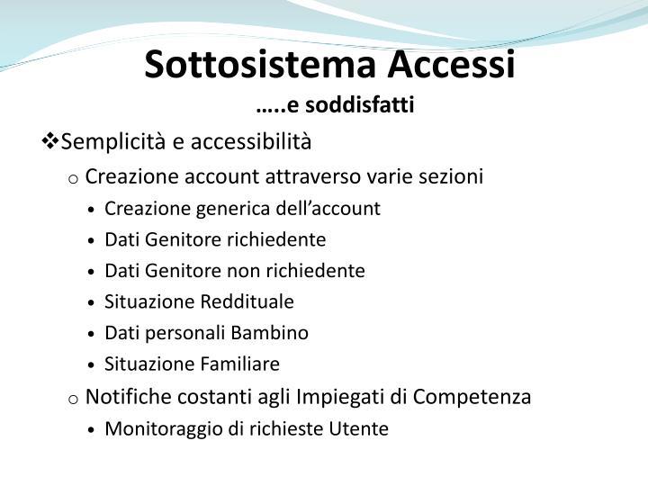 Sottosistema Accessi