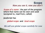 scope now you see it now you don t
