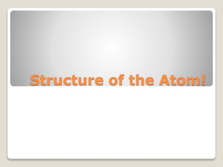 structure of the atom n.