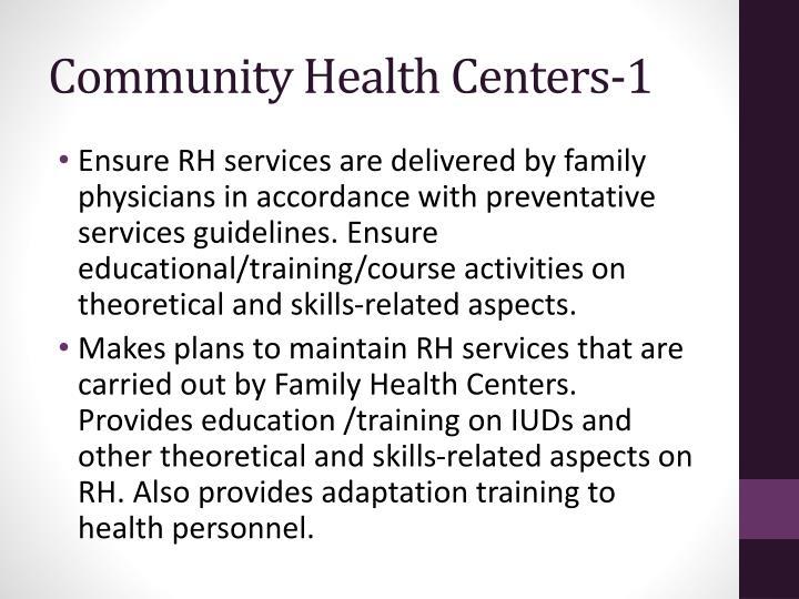 Community Health Centers-1