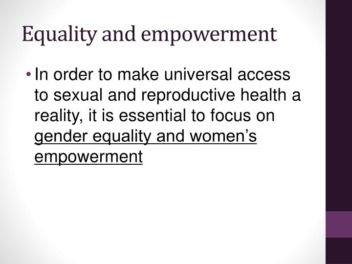 Equality and empowerment