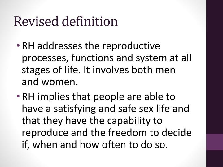 Revised definition