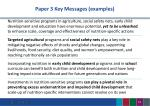 paper 3 key messages examples