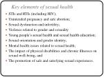 key elements of sexual health