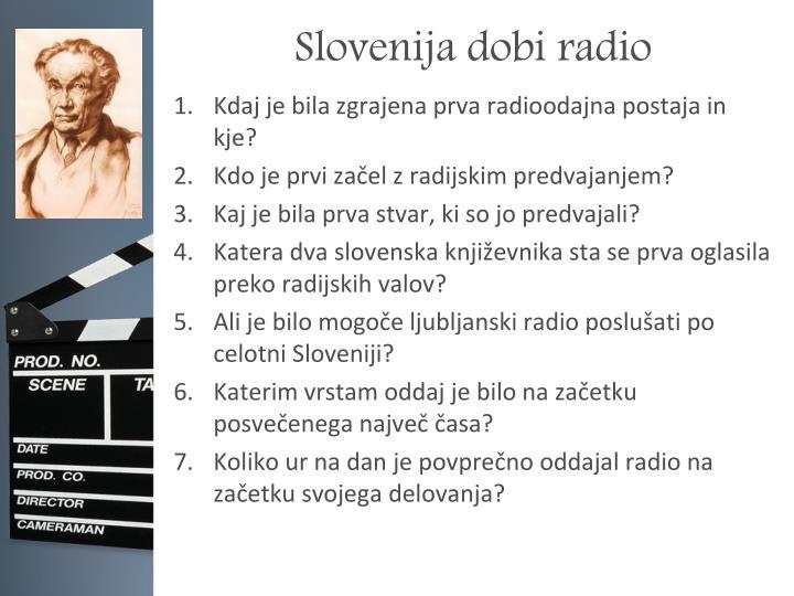 Slovenija dobi radio