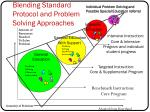 blending standard protocol and problem solving approaches