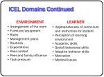 icel domains continued