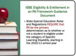 isbe eligibility entitlement in an rti framework guidance document