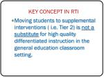 key concept in rti