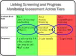 linking screening and progress monitoring assessment across tiers