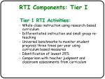 rti components tier i