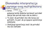 ekonomska interpretacija lagrange ovog multiplikatora1