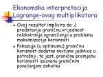 ekonomska interpretacija lagrange ovog multiplikatora2