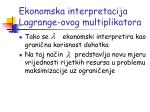 ekonomska interpretacija lagrange ovog multiplikatora3