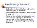 maksimizacija korisnosti13
