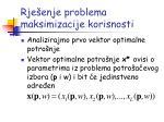 rje enje problema maksimizacije korisnosti1