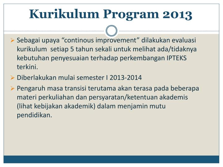 Kurikulum Program 2013