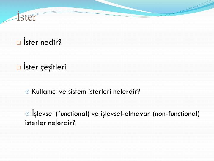 İster