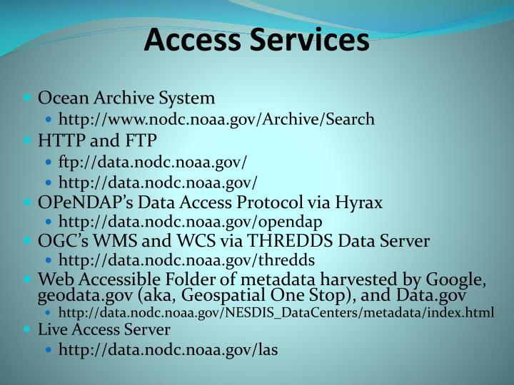 Access Services