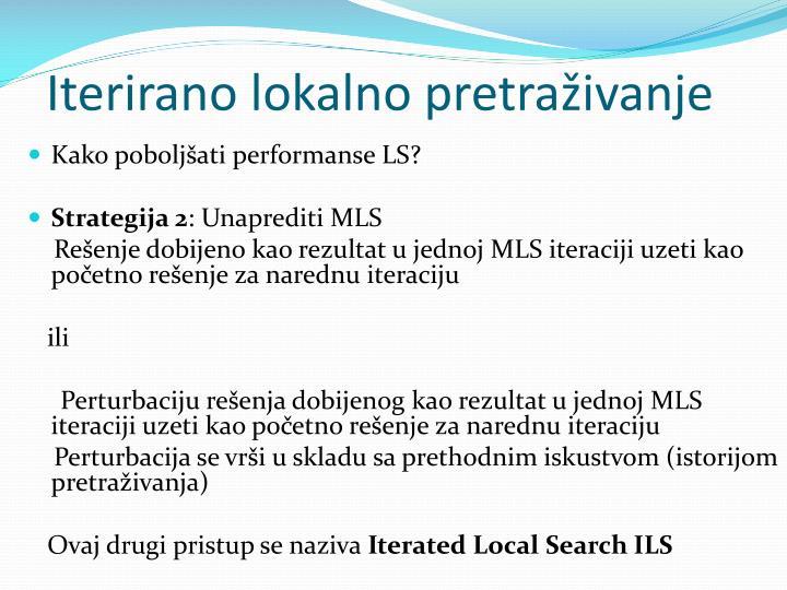 Iterirano lokalno pretraživanje