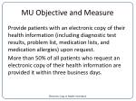 mu objective and measure