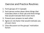 exercise and practice routines