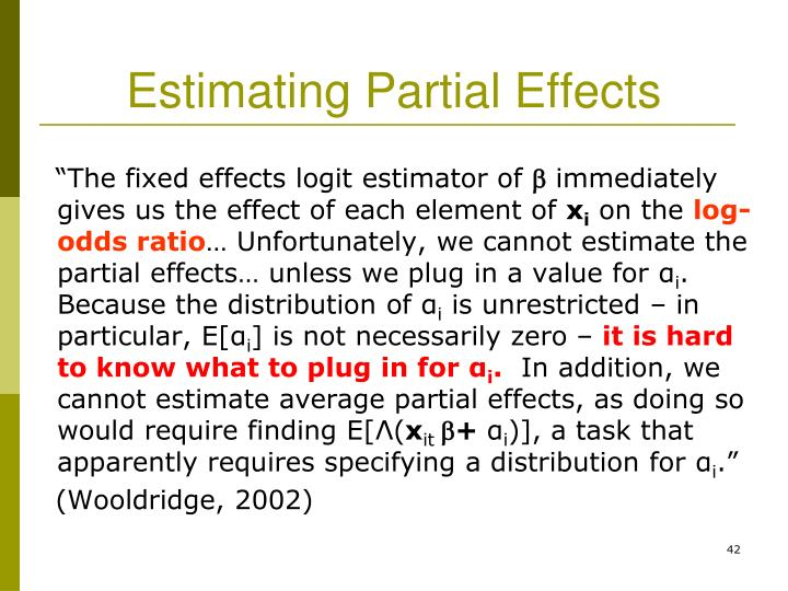 Estimating Partial Effects