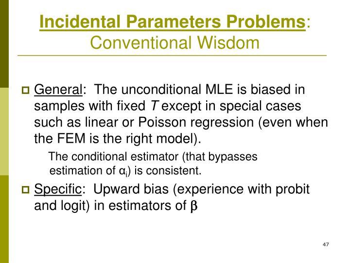Incidental Parameters Problems