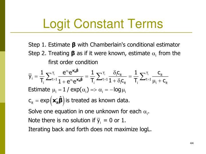 Logit Constant Terms