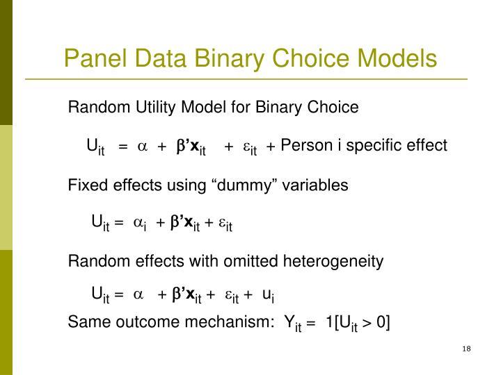 Panel Data Binary Choice Models
