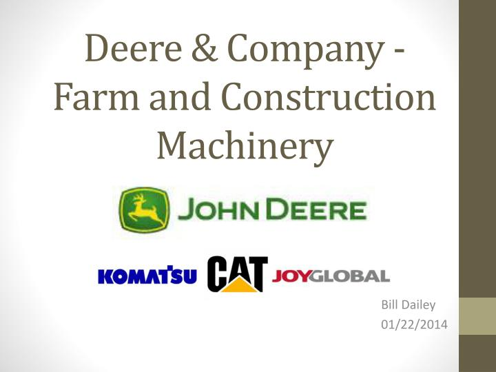 deere company farm and construction machinery n.