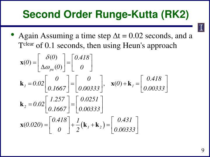 Second Order Runge-Kutta