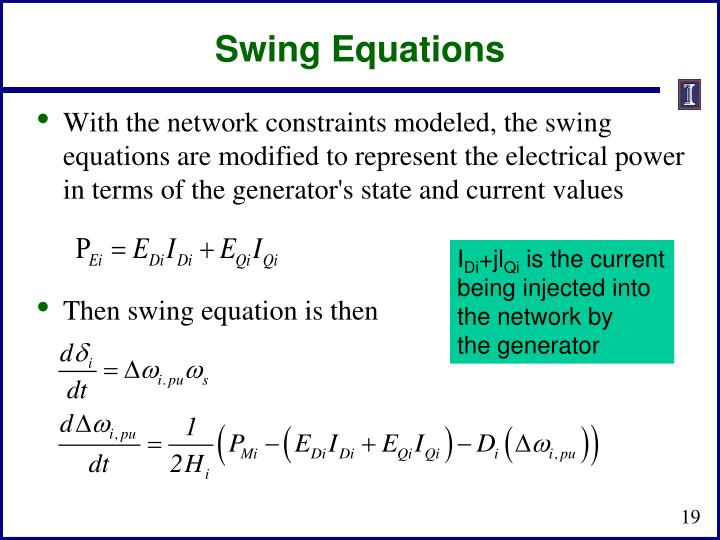 Swing Equations