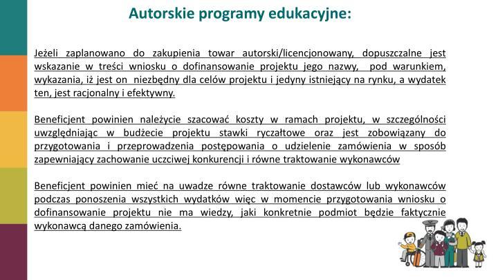 Autorskie programy edukacyjne: