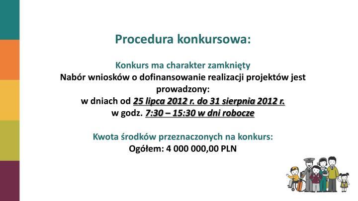 Procedura konkursowa: